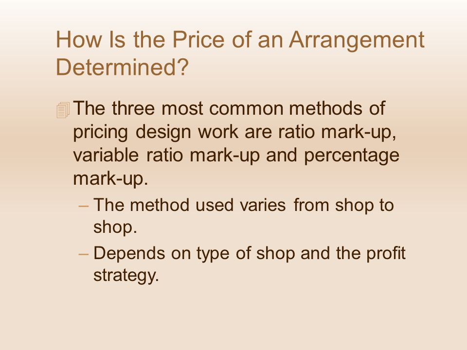 How Is the Price of an Arrangement Determined