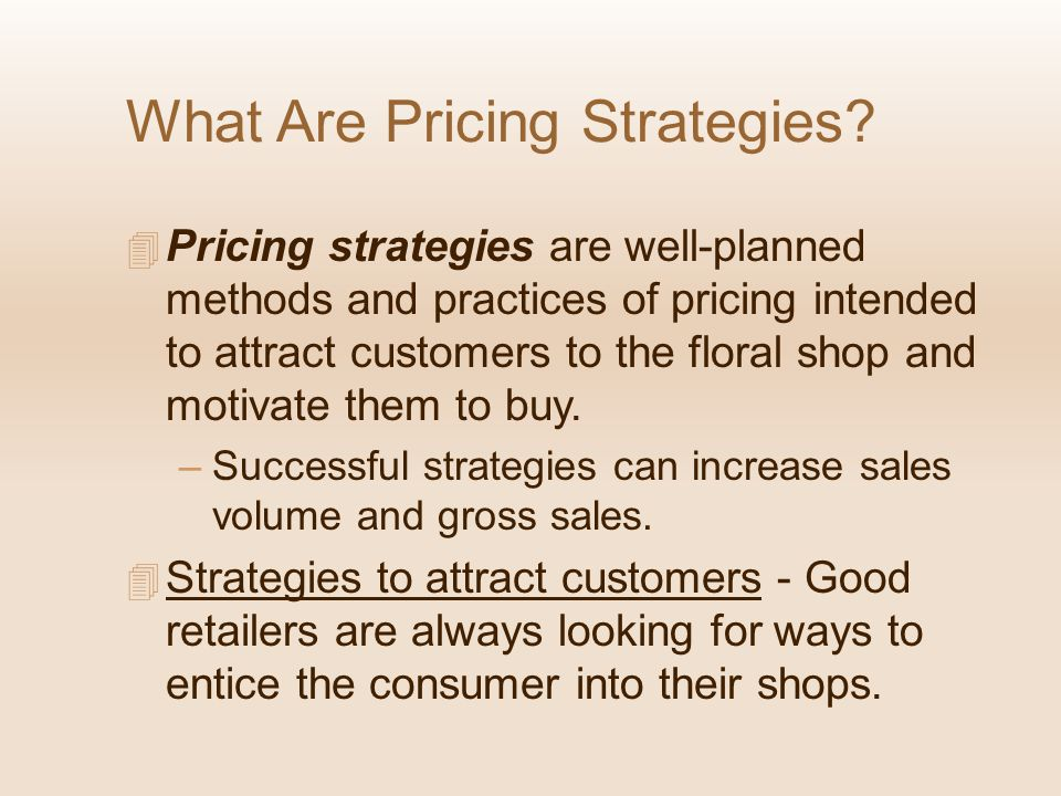 What Are Pricing Strategies