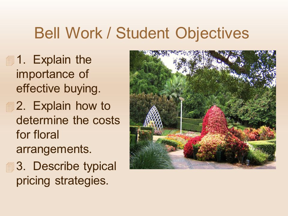 Bell Work / Student Objectives