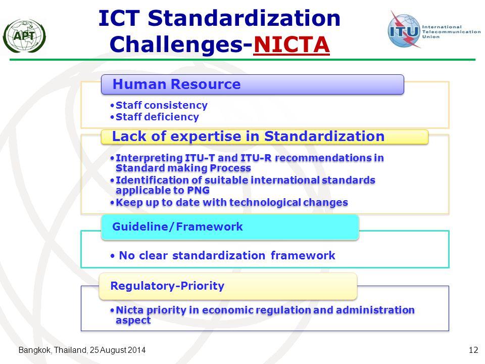 ICT Standardization Challenges-NICTA