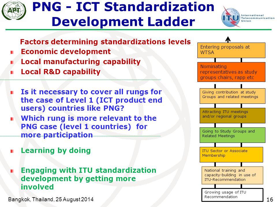 PNG - ICT Standardization Development Ladder