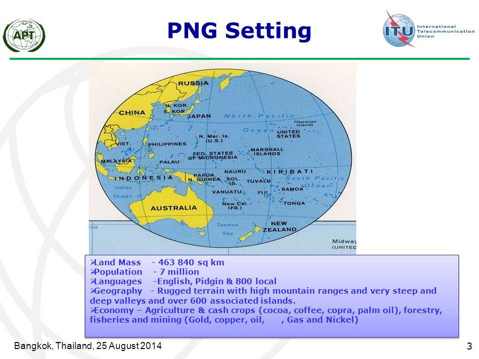 PNG Setting Bangkok, Thailand, 25 August 2014