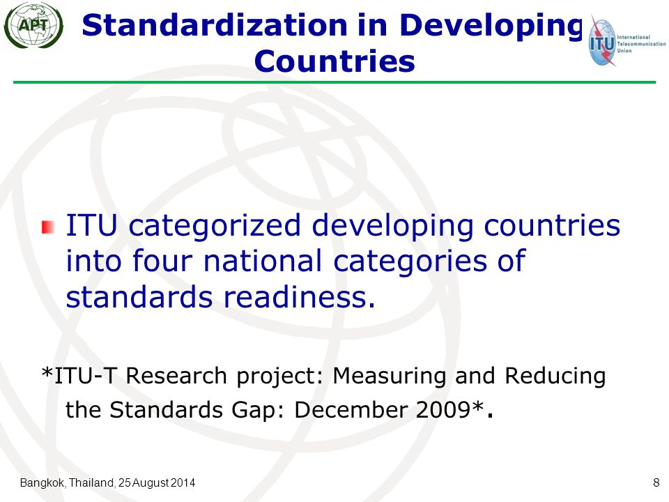 Standardization in Developing Countries