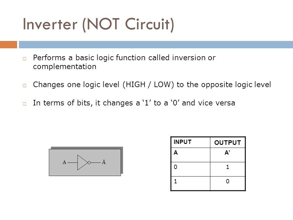 Inverter (NOT Circuit)