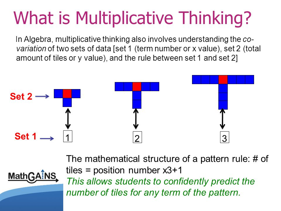 What is Multiplicative Thinking