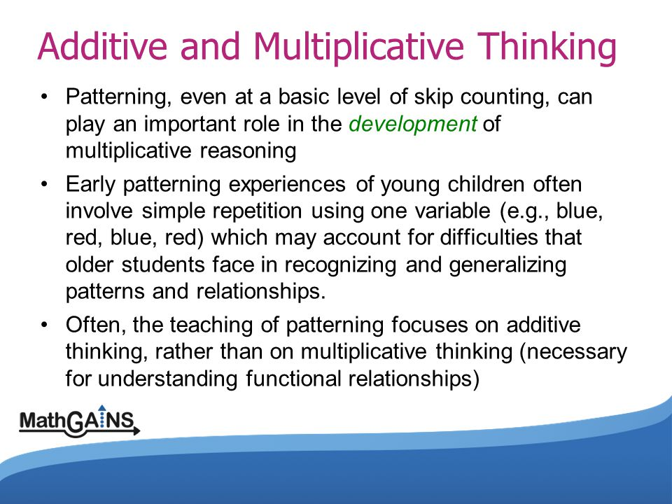 Additive and Multiplicative Thinking