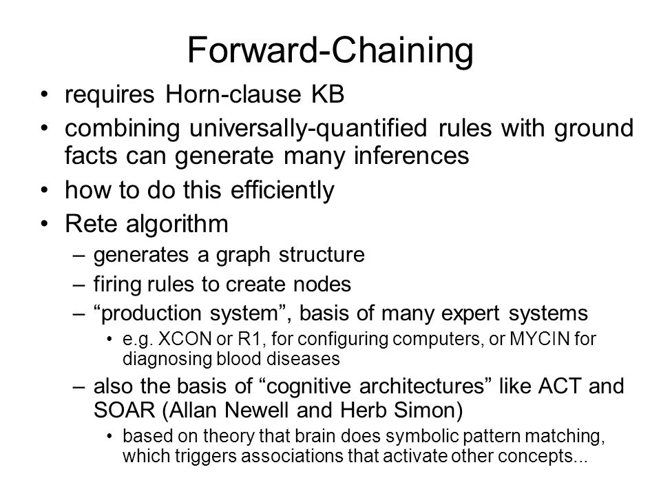 Forward-Chaining requires Horn-clause KB