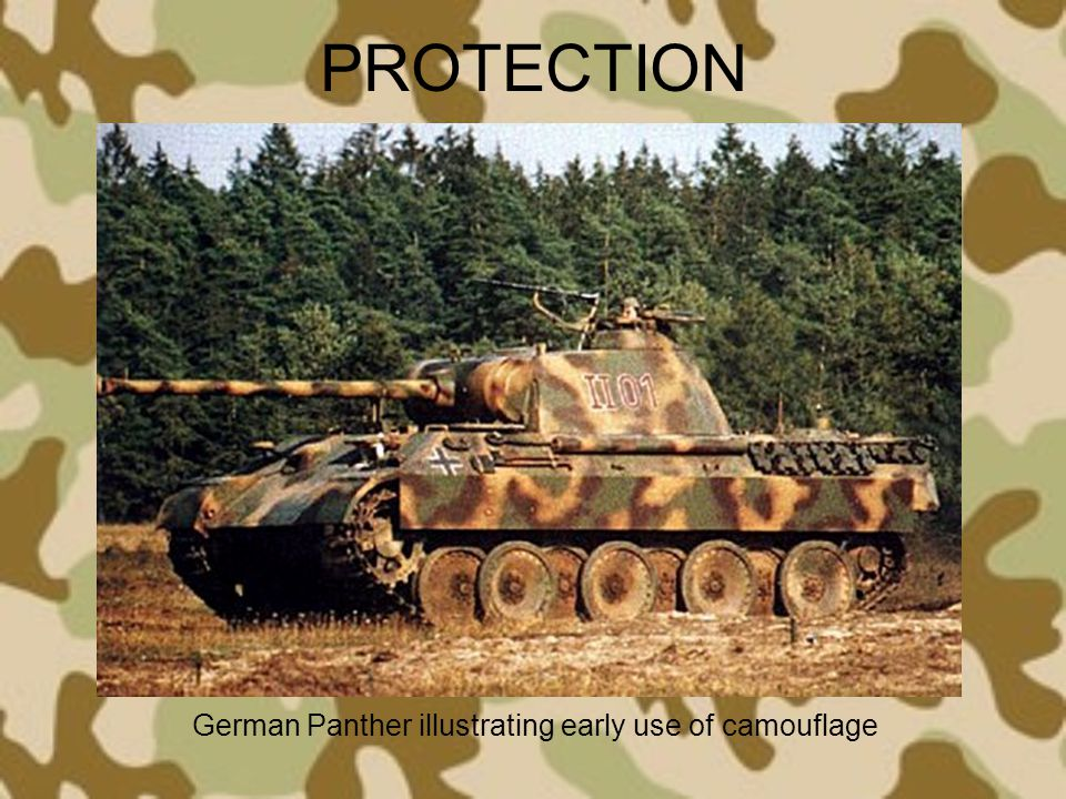 German Panther illustrating early use of camouflage