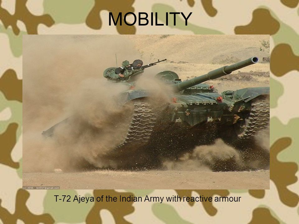 T-72 Ajeya of the Indian Army with reactive armour