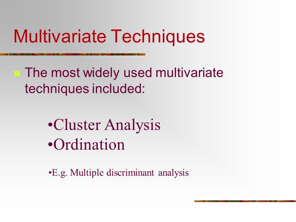 Multivariate Techniques