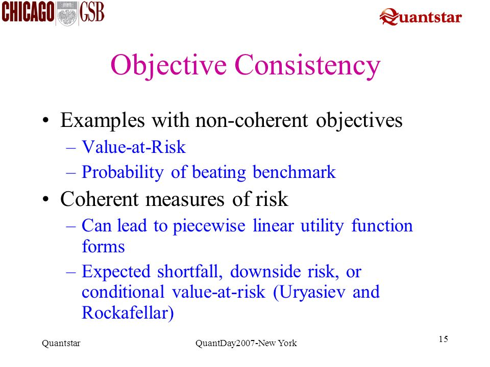 Objective Consistency