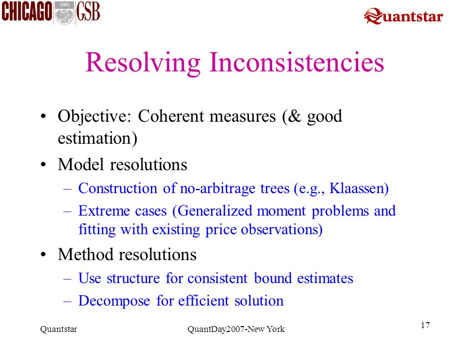 Resolving Inconsistencies