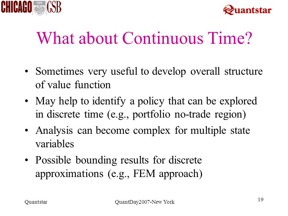 What about Continuous Time