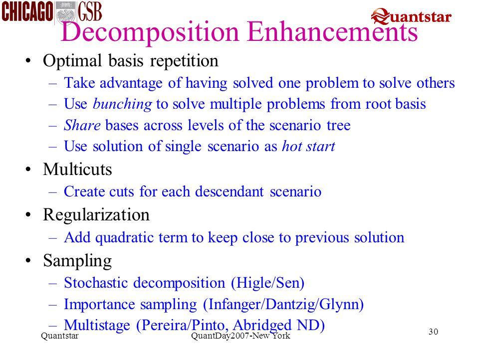 Decomposition Enhancements