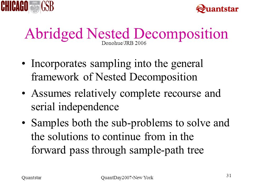 Abridged Nested Decomposition