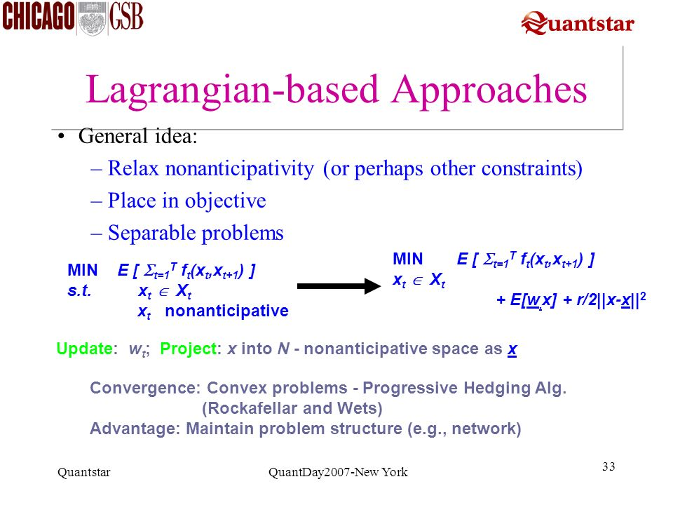 Lagrangian-based Approaches