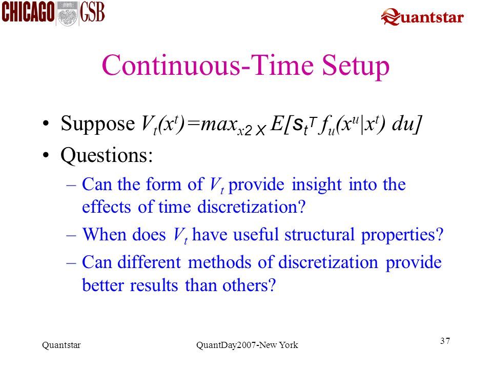 Continuous-Time Setup