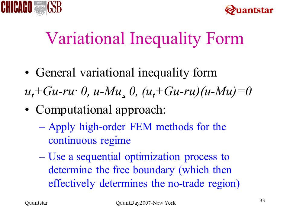 Variational Inequality Form