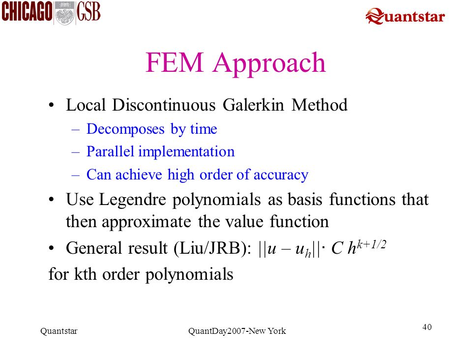 FEM Approach Local Discontinuous Galerkin Method
