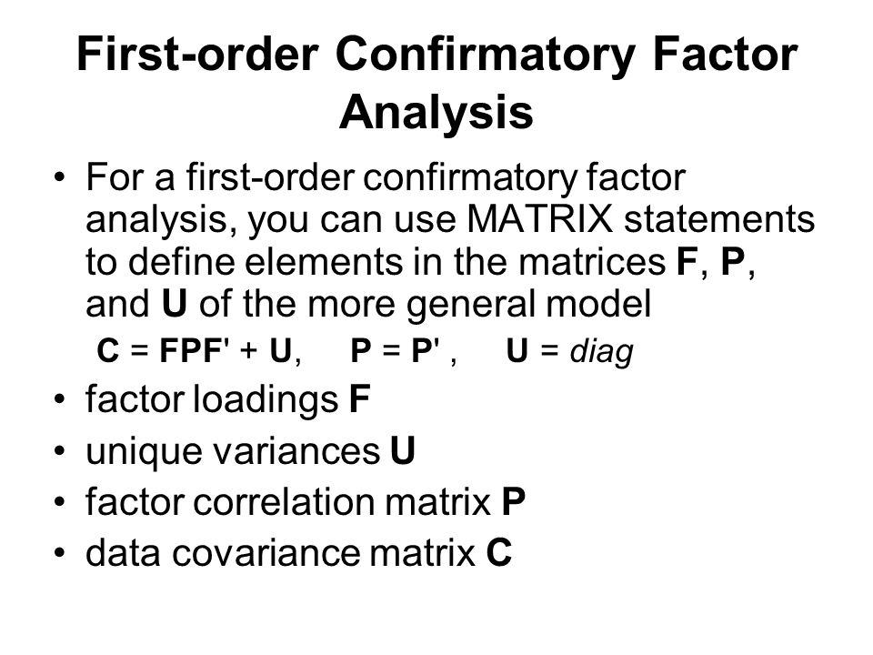 First-order Confirmatory Factor Analysis