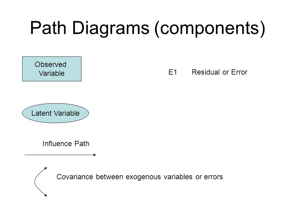 Path Diagrams (components)