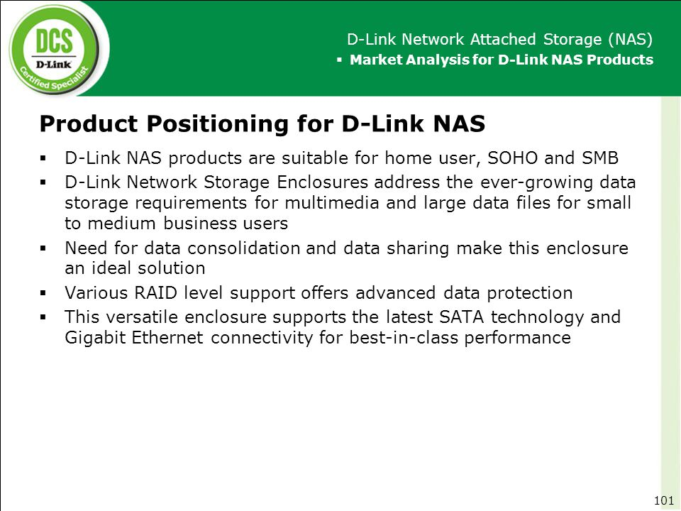 Product Positioning for D-Link NAS