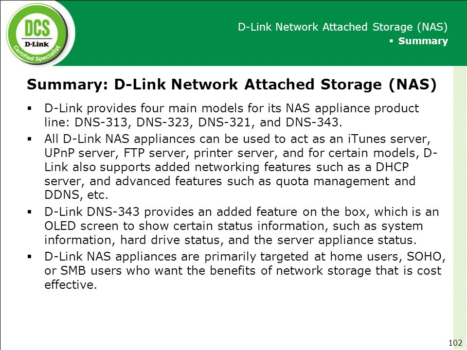 Summary: D-Link Network Attached Storage (NAS)