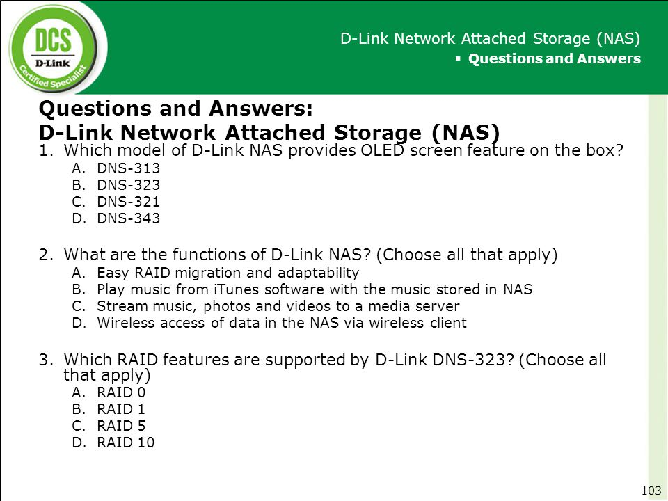 Questions and Answers: D-Link Network Attached Storage (NAS)