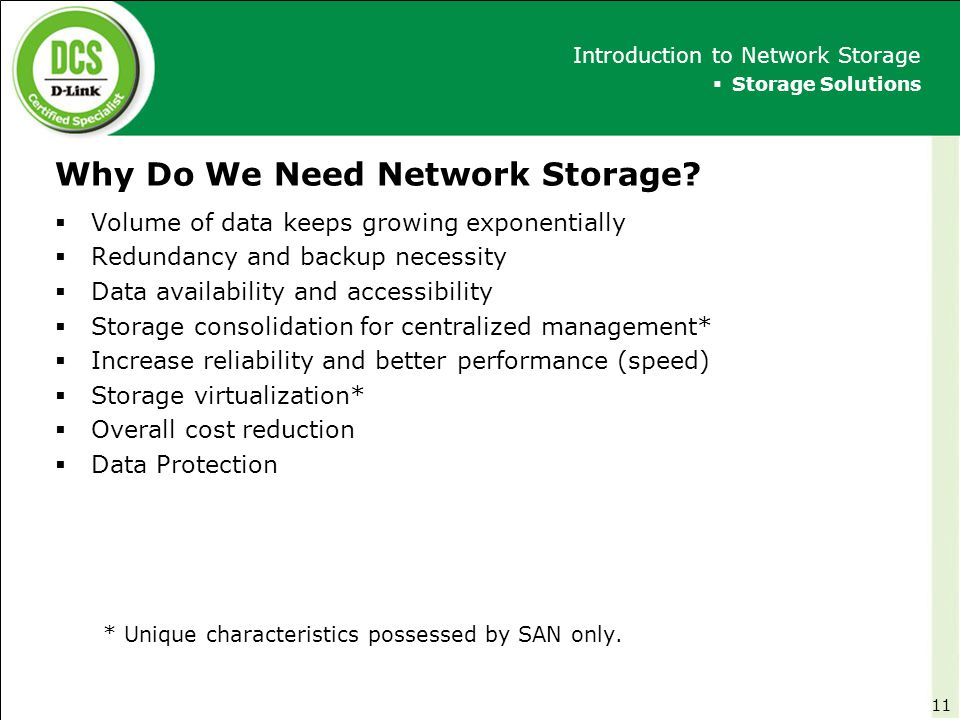 Why Do We Need Network Storage