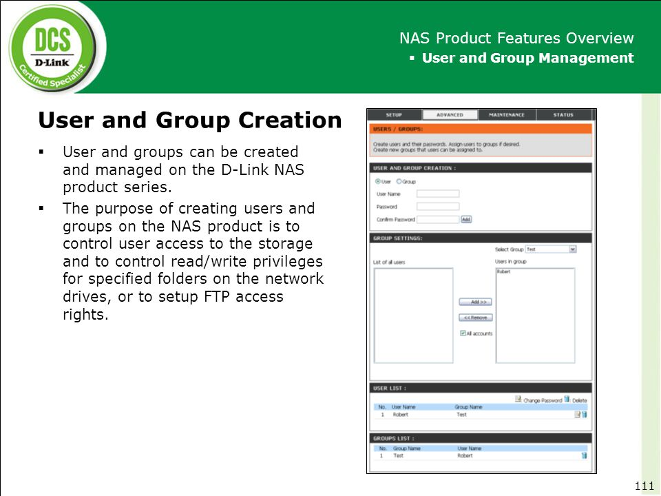 User and Group Creation