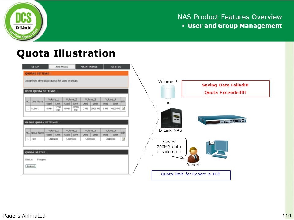 Quota Illustration NAS Product Features Overview