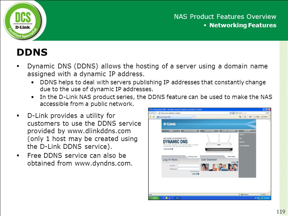 DDNS NAS Product Features Overview