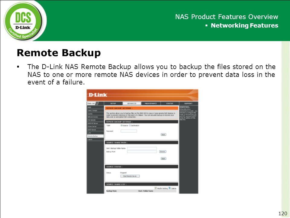 Remote Backup NAS Product Features Overview