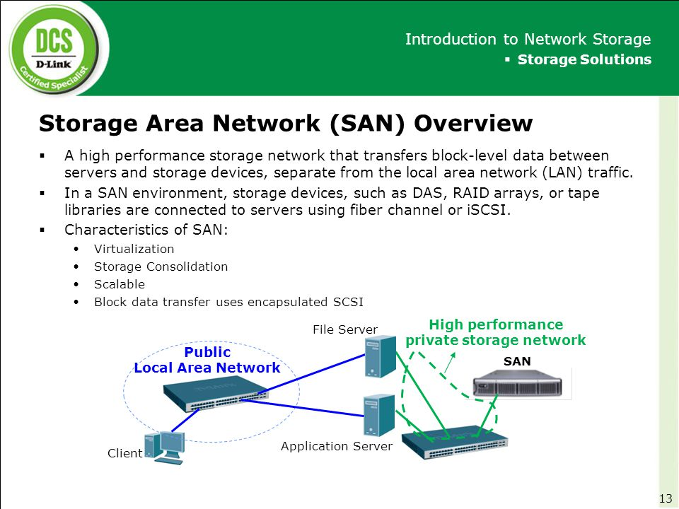 Storage Area Network (SAN) Overview