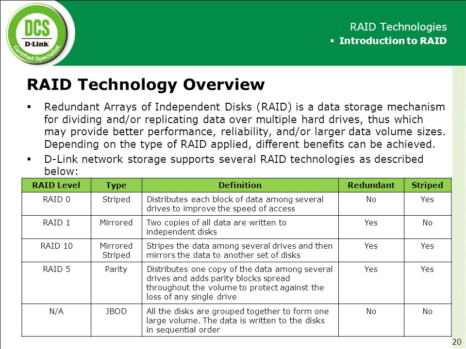 RAID Technology Overview
