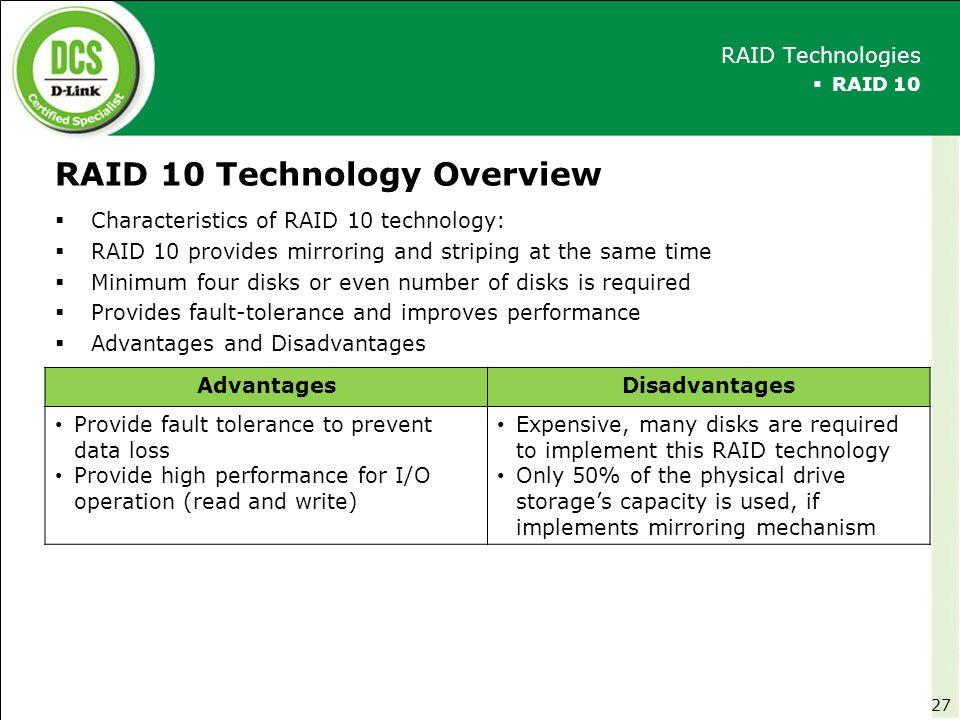 RAID 10 Technology Overview
