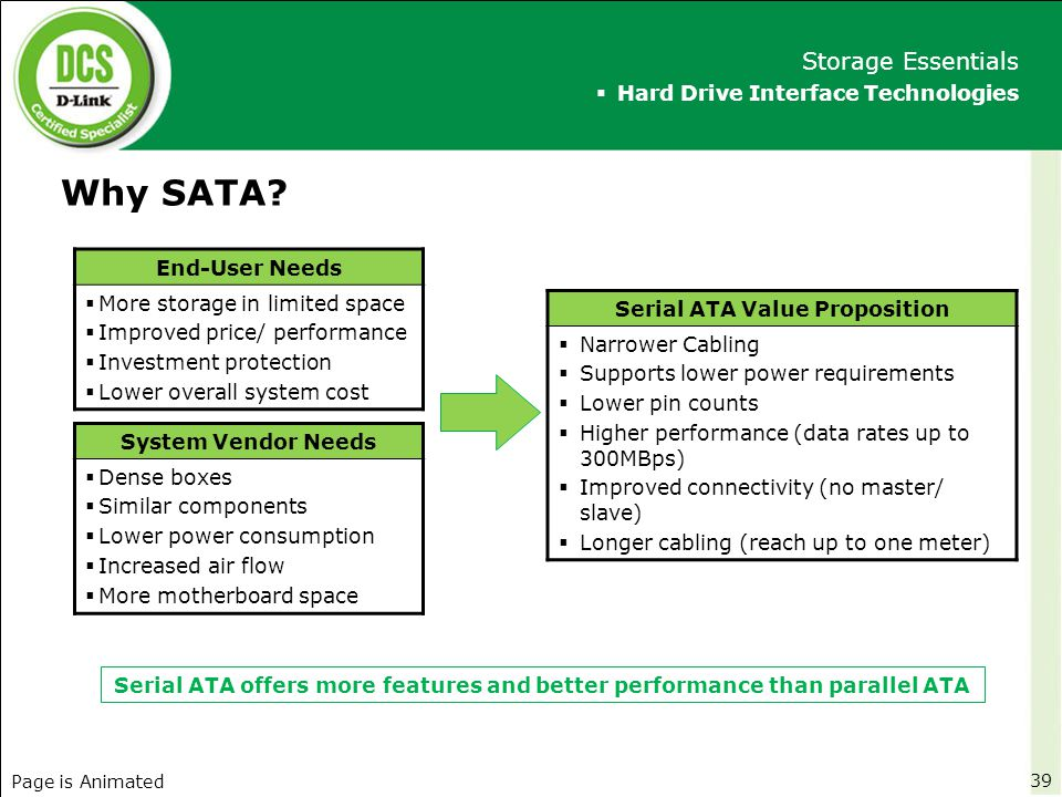Serial ATA Value Proposition
