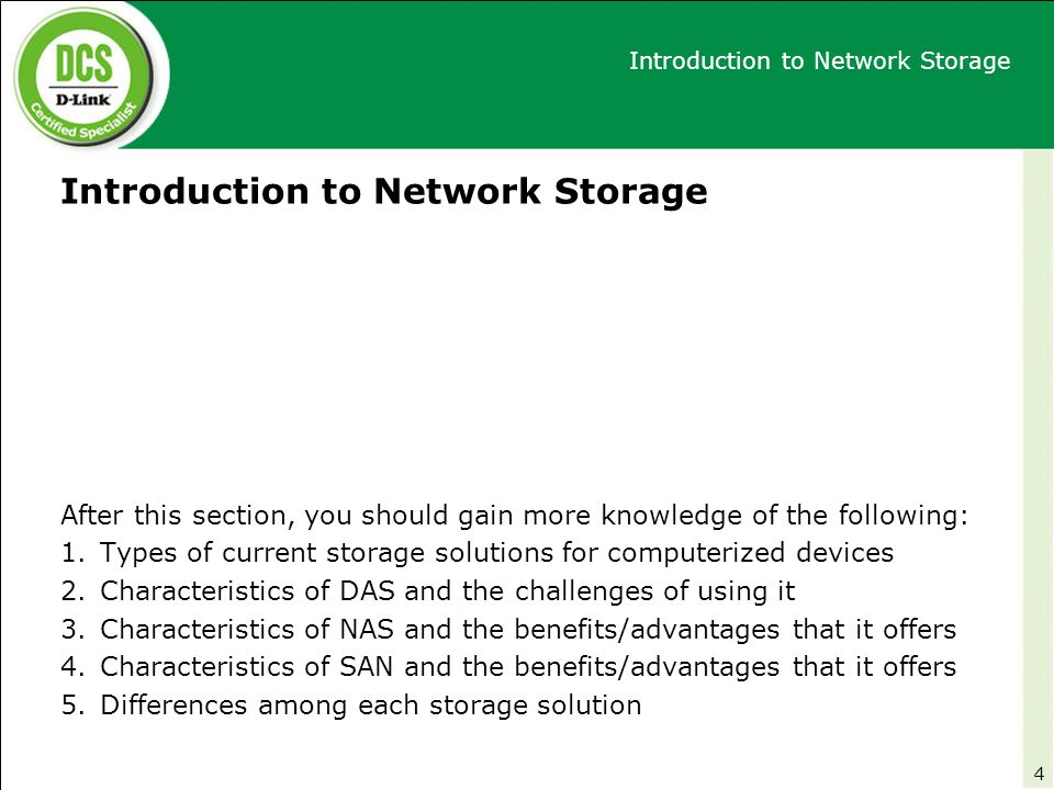 Introduction to Network Storage