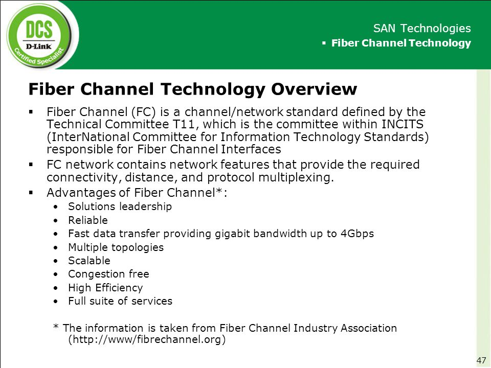 Fiber Channel Technology Overview