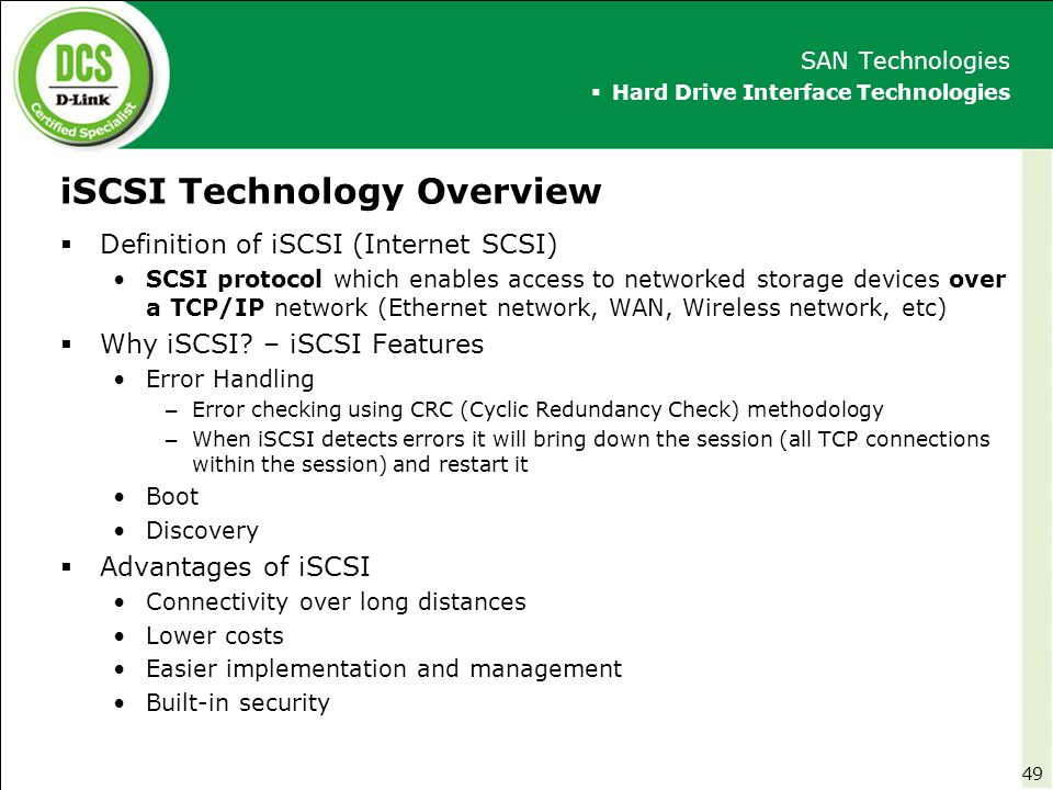 iSCSI Technology Overview