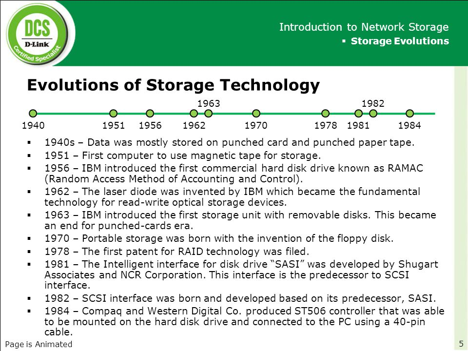 Evolutions of Storage Technology