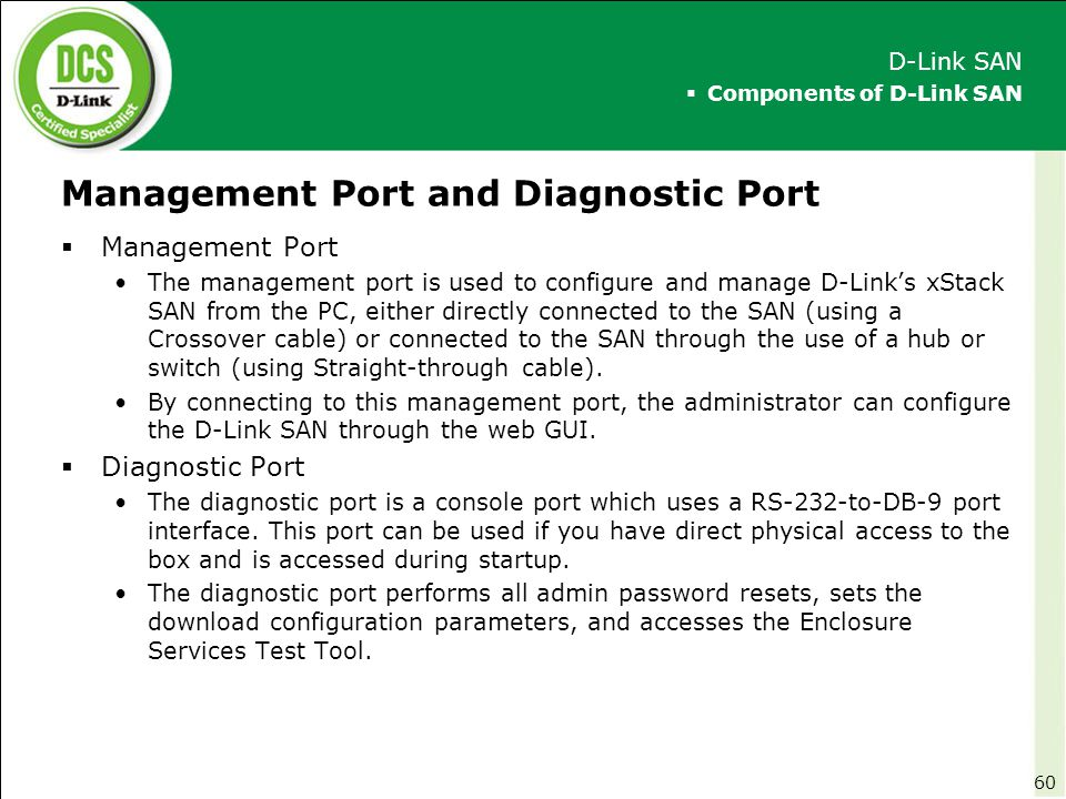 Management Port and Diagnostic Port