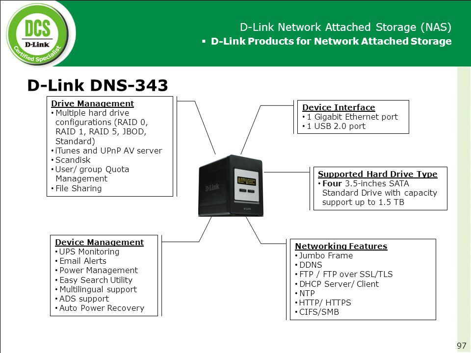D-Link DNS-343 D-Link Network Attached Storage (NAS)