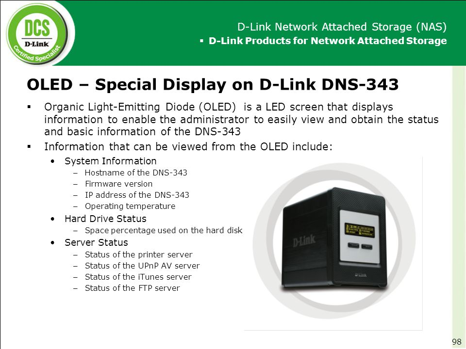 OLED – Special Display on D-Link DNS-343