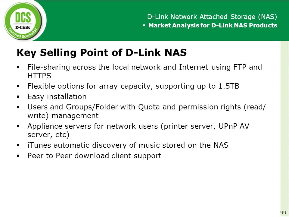 Key Selling Point of D-Link NAS