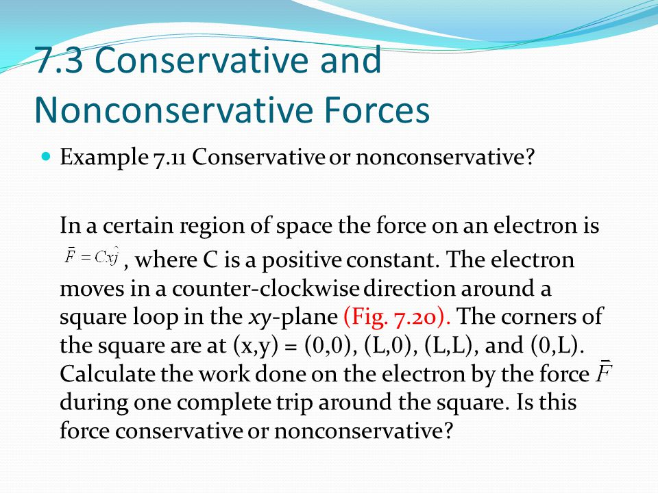 7.3 Conservative and Nonconservative Forces