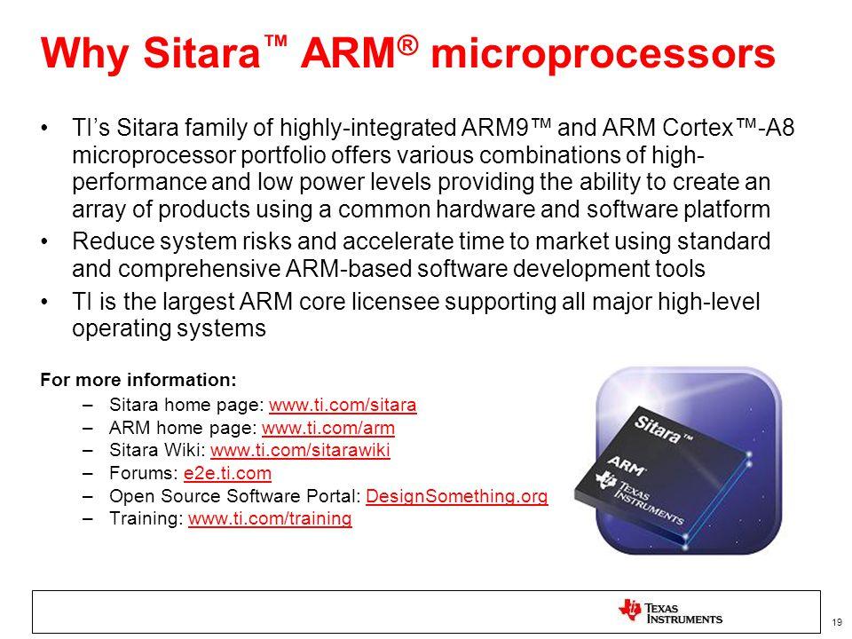 Why Sitara™ ARM® microprocessors
