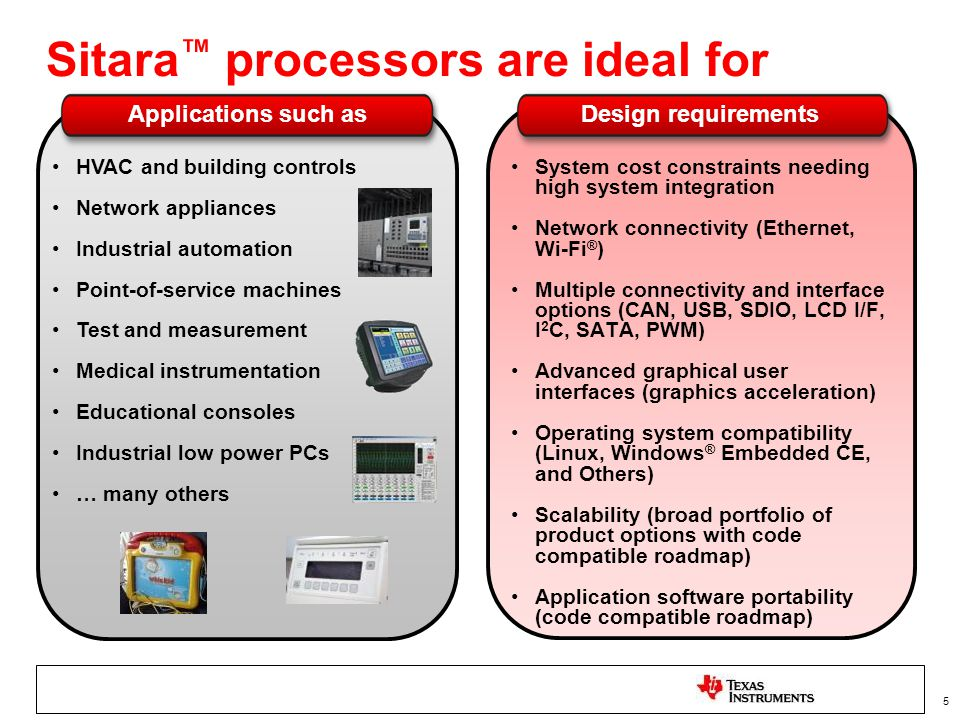 Sitara™ processors are ideal for