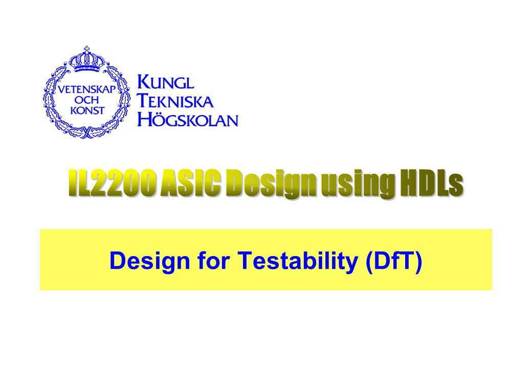Design for Testability (DfT)