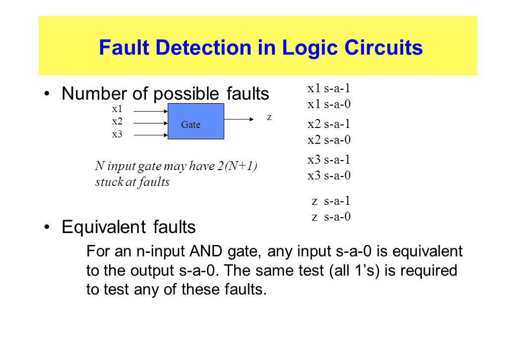 Fault Detection in Logic Circuits